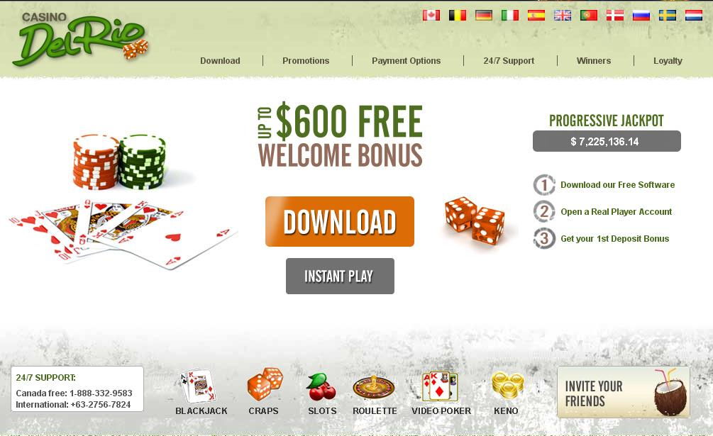 Casino del rio bonus el dorado casino employment